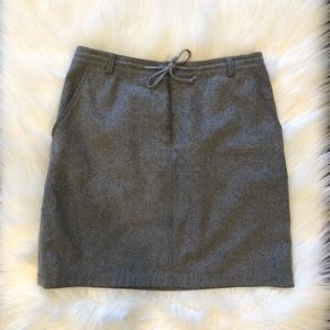 Ann Taylor Wool Mini Gray Skirt